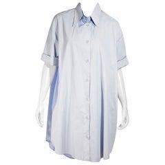 Light Blue MM6 Maison Margiela Oxford Shirtdress
