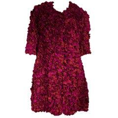 Jason Wu Pink Silk Georgette Petal Coat