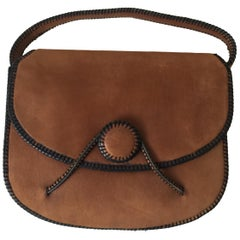 Hermes Vintage Suede Bag
