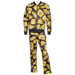Jeremy Scott x Adidas Gold Plaque Print Track Suit
