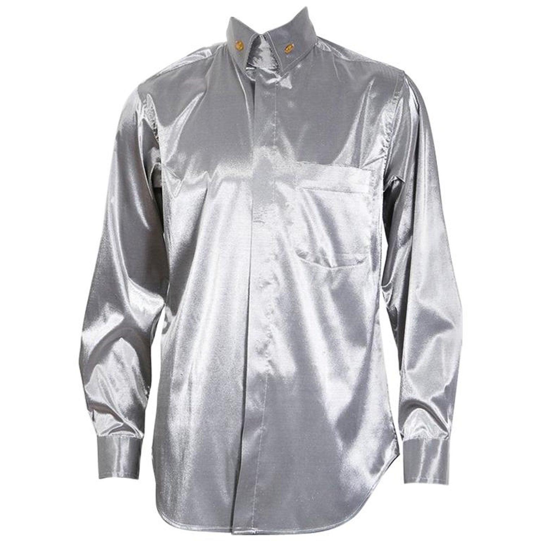 Vivienne Westwood Metallic Silver Button Up Shirt At 1stdibs