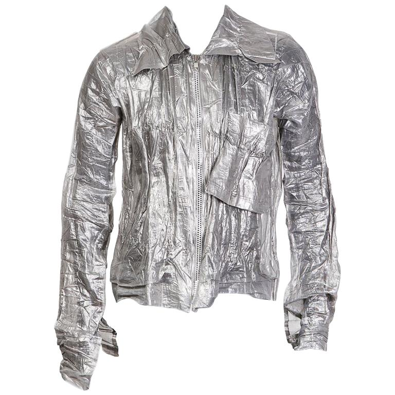 Issey Miyake Crinkled Metallic Shirt