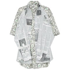 Balenciaga Money $$ Print Shirt  Oversized  Size 40  NEW