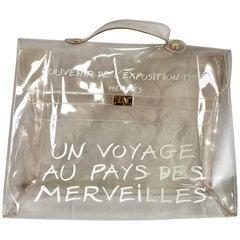 MINT. Vintage Hermes clear, transparent vinyl Kelly bag, Japan limited Edition.