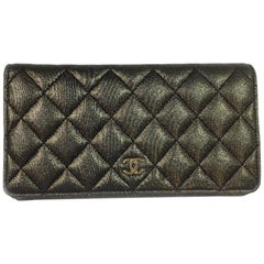 CHANEL Wallet in Gold Plated Canvas