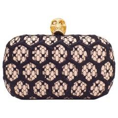 Alexander McQueen Honeycomb Skull Box Clutch