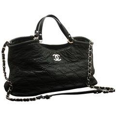 77b20fecebb03d CHANEL 2 Way 2012 Chain Shoulder Bag Handbag Black Quilted Coated