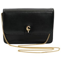 CHRISTIAN DIOR Vintage Mini Bag in Navy Smooth Leather
