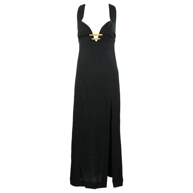Christian Lacroix Black Dress with Gold Hardware - Size FR 38