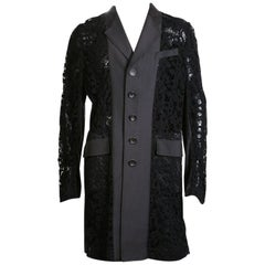 Mac Coat with Black Crochet Lace, Spring 2011