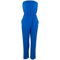 Viktor & Rolf Bright Blue Strapless Jumpsuit - Size M