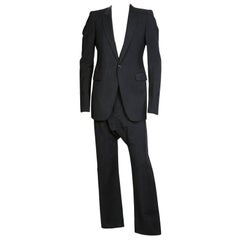 Rick Owens Black Wool and Mohair Suit