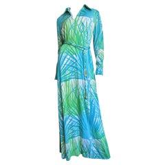 La Mendola 1970s Maxi Dress and Silk Over Skirt