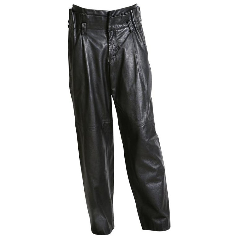 Issey Miyake Leather Pants circa 1980s/1990s