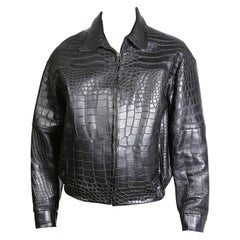 Jose Luis Black Croc Jacket