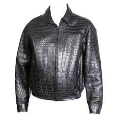 Jose Luis Black Croc Jacket
