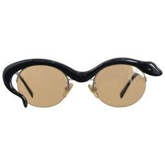 Yohji Yamamoto Snake Sunglasses, 1980s