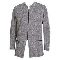 Pierre Cardin Wool Zip-Up Jacket with Circular Metal Zipper Pulls, 1960s-1970s