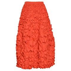 Issey Miyake Red Origami Skirt