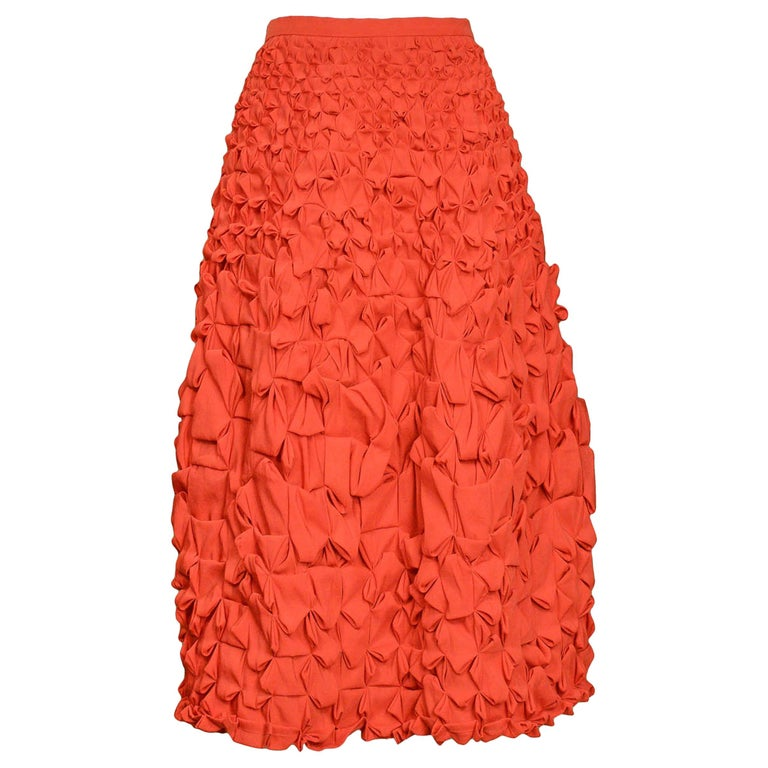 Issey Miyake Red Origami Skirt For Sale At 1stdibs