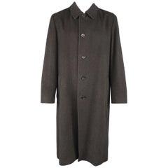 ISSEY MIYAKE L Charcoal Heatherewd Wool Car Coat