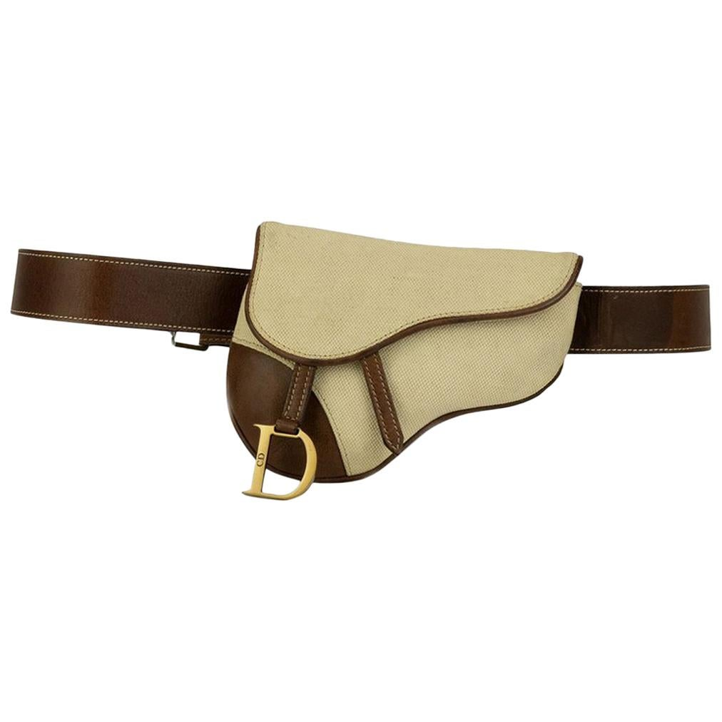 Christian Dior Vintage Belt Saddle Bag Bum Bag Waist Fanny Pack