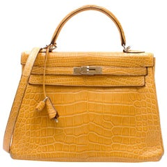 Hermes Mimosa Alligator Mississippi 32cm Kelly Bag