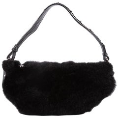 Chanel Outdoor Ligne Hobo Fur with Leather Medium