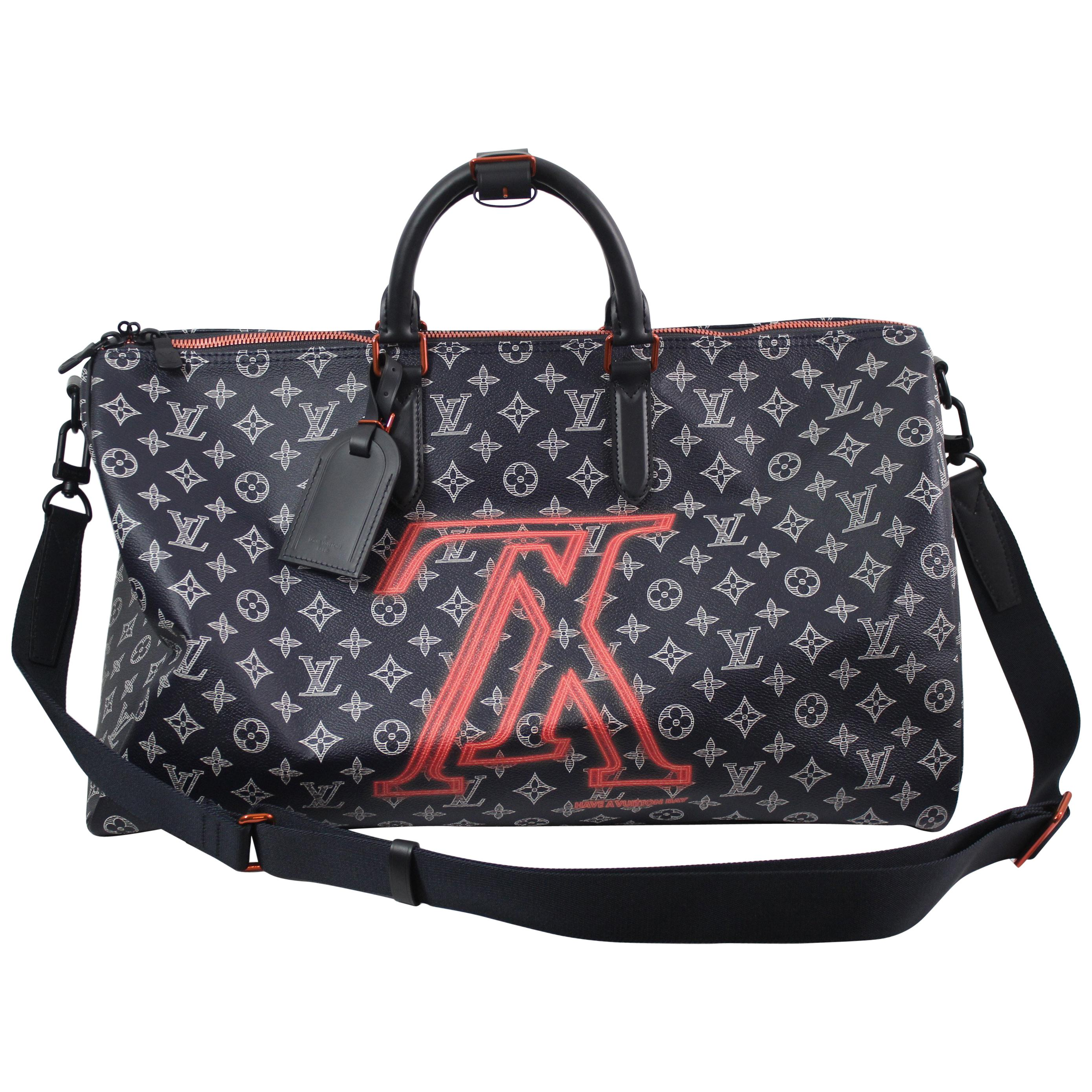 1ce244f343c New Never Used Louis Vuitton by Kim Jones Keepall 45 Upside Monogram at  1stdibs