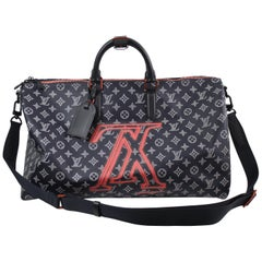 New Never Used Louis Vuitton by Kim Jones Keepall 45 Upside Monogram