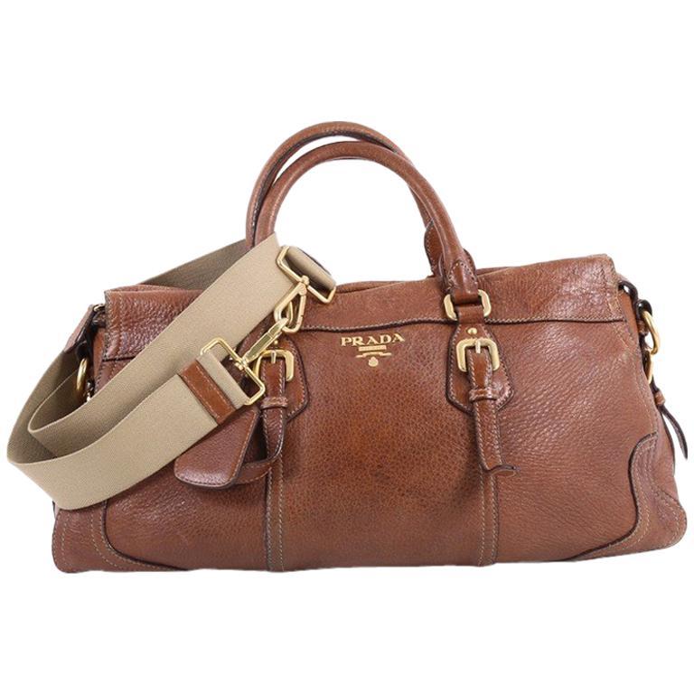 2d25b5a18c91 Prada Convertible Belted Satchel Cervo Antik Leather East West For Sale