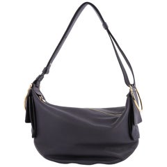 Salvatore Ferragamo Badia Hobo Leather Medium