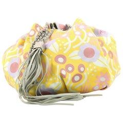 Chanel Sac Cordon Shoulder Bag Printed Satin