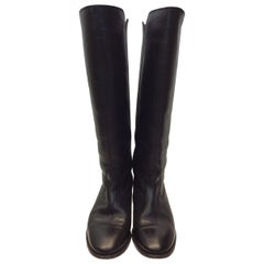 Isabel Marant Black Leather Knee-High Boots