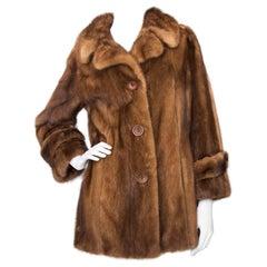1970s Christian Dior Caramel Collored Mink Fur Coat
