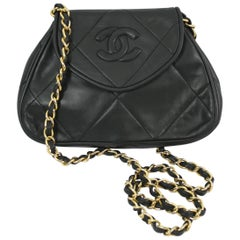 80's Mini Chanel Vintage Dark Green Bag