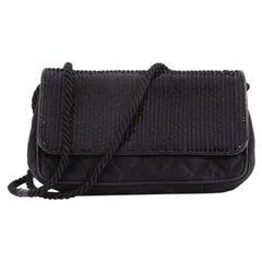 Chanel Vintage Flap Shoulder Bag Sequin Embellished Satin Small