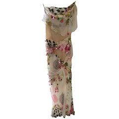 Christian Dior Silk Floral Dress Size 36