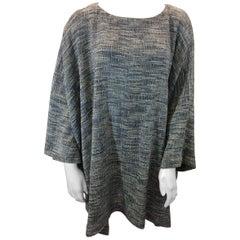 Eskandar Tweed Multi-Color Poncho
