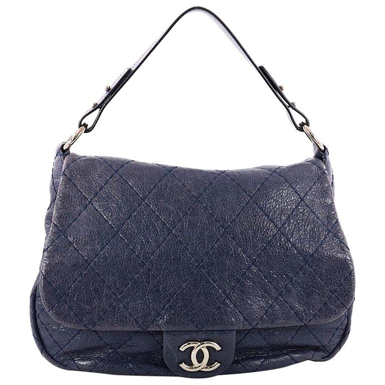 e36e8352add587 Chanel On the Road Flap Bag Quilted Leather Large at 1stdibs
