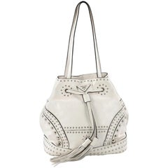 Prada Bucket Bag Studded Soft Calfskin Large