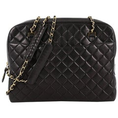 Chanel Vintage Camera Bag Quilted Leather Large