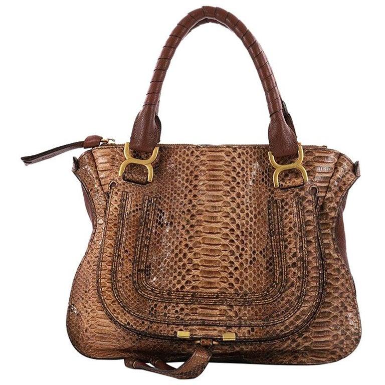 Chloe Marcie Shoulder Bag Python Medium at 1stdibs 8f59b5d70f0b