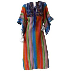 1970s Rikma Angel Sleeve Striped Dress