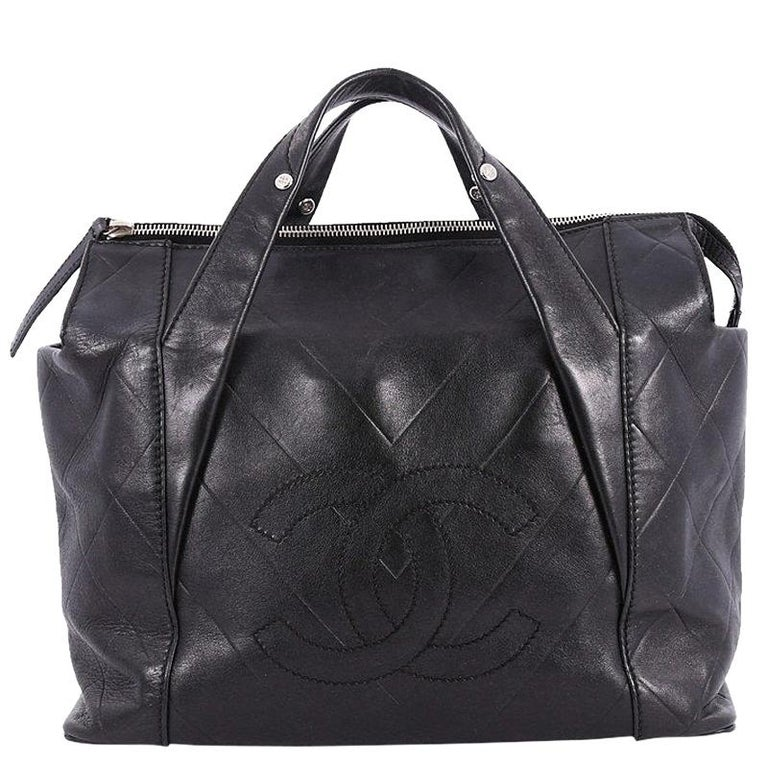 Chanel All Day Long Tote Chevron Leather Medium at 1stdibs d36fa26e04