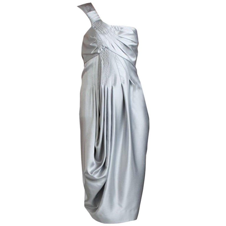 New Catherine Malandrino Black Label Silk Cocktail Dress Sz 38 For Sale
