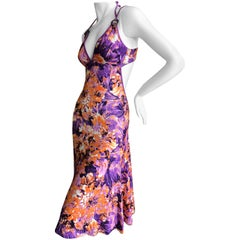 Roberto Cavalli Just Cavalli Vintage Floral Cross Back Dress