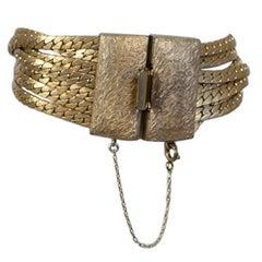 Les Bernard Brushed Gold Seven-Chain Bracelet, 1970s