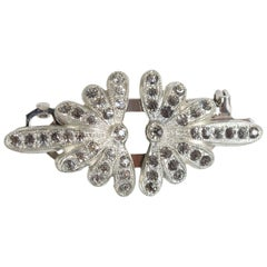 Coro Duette Marcasite Brooch and Dress Clip, 1940s