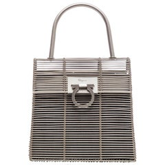 Salvatore Ferragamo Metal Bag With Gancino Fastening, Circa 1999